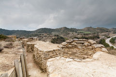 Defensive fighting position in Alcubierre, Spain Royalty Free Stock Images