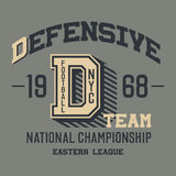 Defensive football team t-shirt Royalty Free Stock Photos