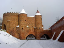 Defensive fortress in Warsaw, Poland. Medieval fortress in Warsaw, Poland stock image