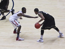 A Defensive Move by Arizona Wildcat Kyle Fogg Stock Images