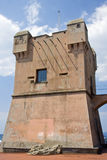 Defensive tower. One of several defensive towers sighting located on the Ligurian coast royalty free stock photo