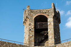 Defensive Tower in the Castle of Montalcino Royalty Free Stock Photography