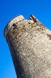 Defensive tower composition. Destructed spanish defensive tower composition. Lagos near Malaga Stock Photos