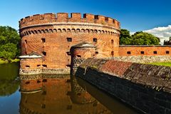Defensive tower Dona - fortress of Koenigsberg. Kaliningrad (until 1946 Koenigsberg), Russia. Defensive tower Dona (german: Der Dohna) - fortress of Koenigsberg stock photography