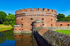 Defensive tower Dona. Kaliningrad (until 1946 Konigsberg), Russia Stock Images