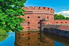 Defensive tower Dona. Kaliningrad (until 1946 Konigsberg), Russia Stock Photos