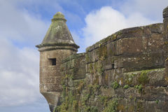 Defensive Tower of Medieval Fort in Horta, the Porteguese, Azore Royalty Free Stock Image