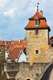 The defensive tower of medieval fortress, Germany Stock Images