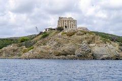 Defensive tower Sa Mesquida in Menorca, Spain Royalty Free Stock Image