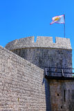 Defensive tower in Ston town, Peljesac Peninsula, Croatia Royalty Free Stock Photos