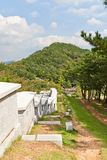 Defensive wall of Dongnae castle in Busan, Korea Stock Photos