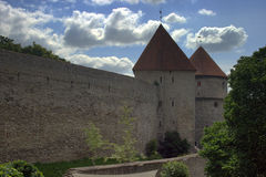 Defensive Wall. The fortified walls of Tallinn. Stock Image