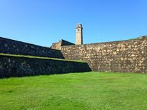 Defensive wall fortress Fort Galé Royalty Free Stock Images