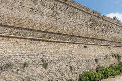 Defensive wall Kyrenia castle royalty free stock image