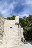 Defensive wall of Pieskowa Skala Castle, near Cracow, Poland Royalty Free Stock Photos