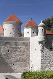 Defensive wall of Pieskowa Skala Castle, near Cracow, Poland Stock Image