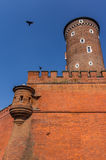 Defensive wall and Sandomierska Tower- Wawel Royal Castle- Cracow-Poland Stock Images