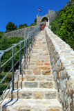 Defensive wall of Ston town, Peljesac Peninsula, Croatia Royalty Free Stock Photo
