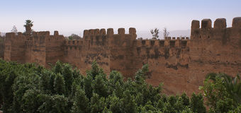 Defensive wall in Toroudant Stock Photos