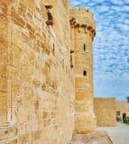 Defensive walls of Alexandria Fort, Egypt stock photo