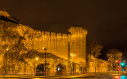 Defensive walls of Avignon, a UNESCO heritage site in France Royalty Free Stock Photo