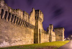 Defensive walls of Avignon, a UNESCO heritage site Stock Images