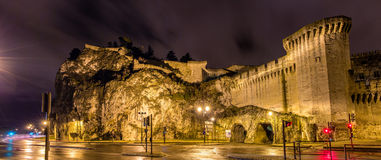 Defensive walls of Avignon, a UNESCO heritage site Royalty Free Stock Photo