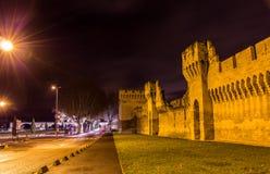 Defensive walls of Avignon, a UNESCO heritage site Stock Images