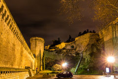 Defensive walls of Avignon Royalty Free Stock Photo