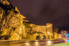 Defensive walls of Avignon, UNESCO heritage site in France Stock Image