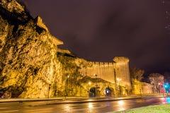 Defensive walls of Avignon, UNESCO heritage site in France Stock Image