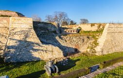 Defensive walls of Belgrade Fortress Stock Image