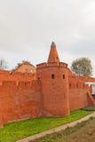 Defensive walls (circa XVI c.) of Warsaw city, Poland Royalty Free Stock Images