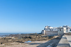 Defensive walls of Essaouira, Morocco stock photography