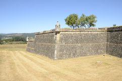 Defensive walls of the fortress Royalty Free Stock Image