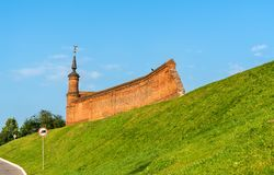 Defensive walls of the Kremlin in Kolomna, Russia Royalty Free Stock Images
