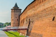 Defensive walls of the Kremlin in Kolomna, Russia Stock Photo