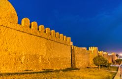 Defensive walls of Medina of Sousse, Tunisia. UNESCO World Heritage Site Royalty Free Stock Images