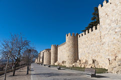 Defensive walls tower at Avila, Spain Royalty Free Stock Image