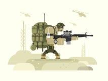 Defensor da paz das forças armadas do caráter ilustração stock