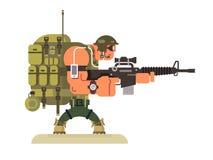 Defensor da paz das forças armadas do caráter ilustração do vetor
