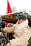 Defensor de Stalingrad en una forma del invierno Foto de archivo libre de regalías
