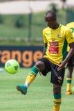 Defensor del jugador de Bafana Bafana Fotografía de archivo libre de regalías