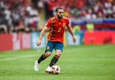 Defensor nacional Dani Carvajal da equipe de futebol do Real Madrid e da Espanha fotos de stock royalty free