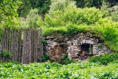 Defensywy ściany ruiny fotografia stock