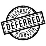 Deferred rubber stamp Stock Images