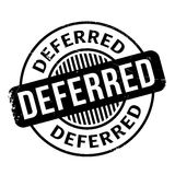 Deferred rubber stamp Royalty Free Stock Photography