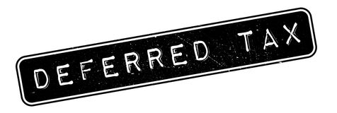 Deferred tax rubber stamp Royalty Free Stock Photo