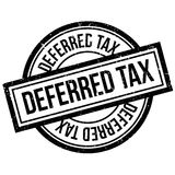 Deferred tax rubber stamp Stock Image