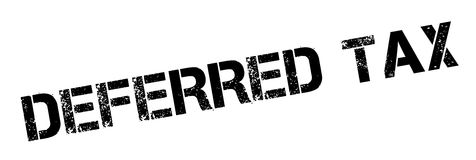 Deferred tax rubber stamp Stock Photography